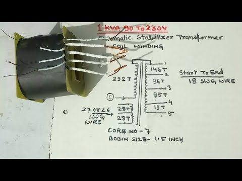 How To Make A Voltage Stabilizer (10 KVA) - YouTube