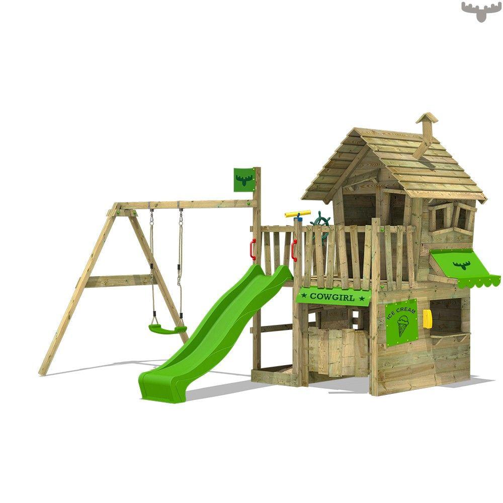 Countrycow Maxi Xxl Kind Spielturm Mit Schaukel Schaukel