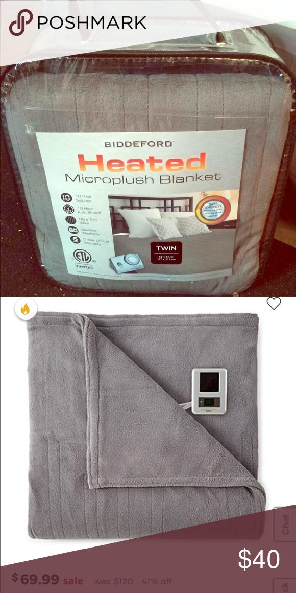 Biddeford Heated Microplush Blanket Twin Size Biddeford