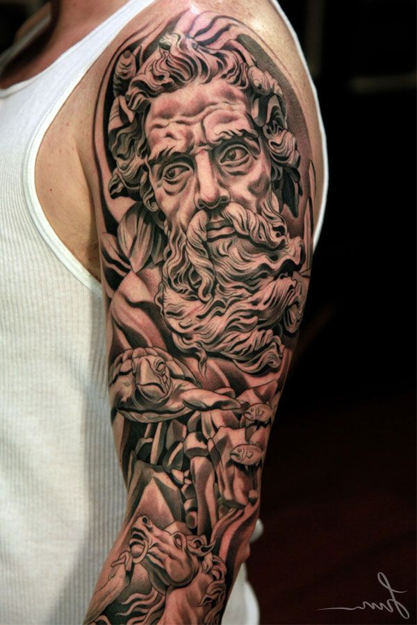 Dark Tattoo Sleeve Designs: Black And Grey Sleeve Tattoos