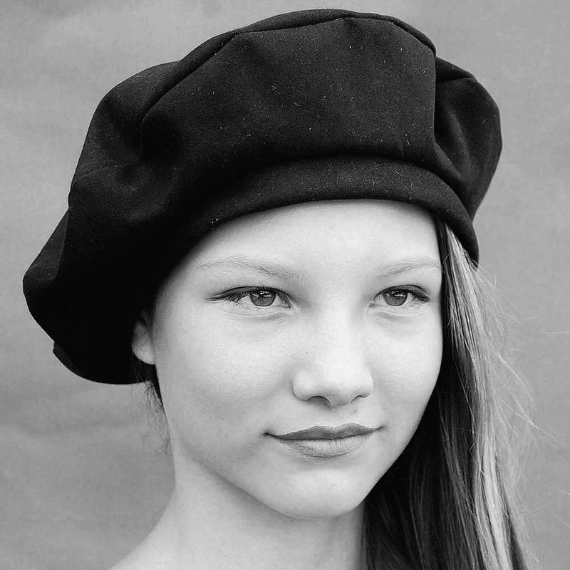 Handmade French beret in soft, thick and velvety designer Italian cotton gaberdine. The new ZUTmarie style has a wideish band to keep it secure whilst the crown has just enough room to comfortably accommodate long hair when tucked inside. The soft...