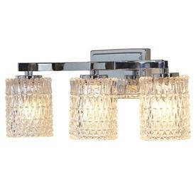 allen + roth 3-Light Polished Chrome Bathroom Vanity Light - Want this with brushed nickel for ...