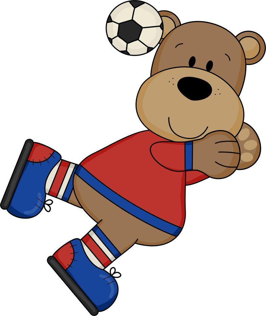 Pin By Marina On Ursuleți Digital Stamps Clipart Boy Bears Football