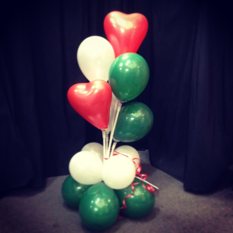 Christmas Balloon Centrepiece. Air Filled Balloons. Heart