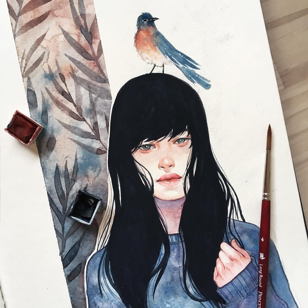 A Little Feathery Friend Brbchasingdreams Design Art Drawing