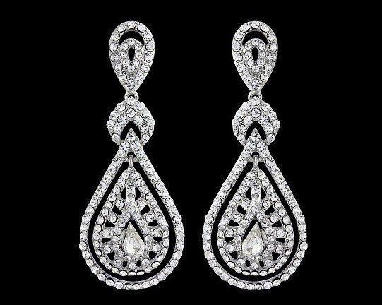 Romantic Style Chandelier Earrings, Savoy | Wedding earrings ...