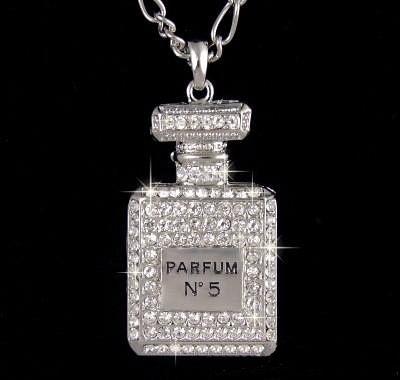 Swarovski Perfume Bottle Pendant