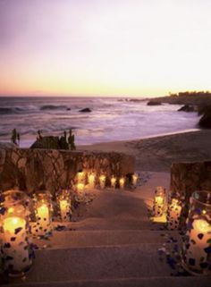 If Your Ceremony Is At Sunset Add A Pathway Of Candles Leading To The Beach It S Inexpensive And