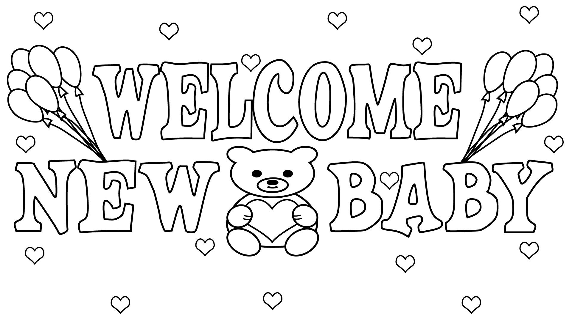 Free Printable Baby Shower Coloring Pages Coloring Pages For Boys Coloring Pages Printable Coloring Cards