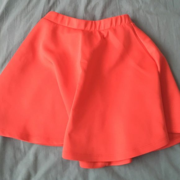 Bright orange circle skirt forever 21 Circle skirt from forever 21 Forever 21 Skirts Circle & Skater