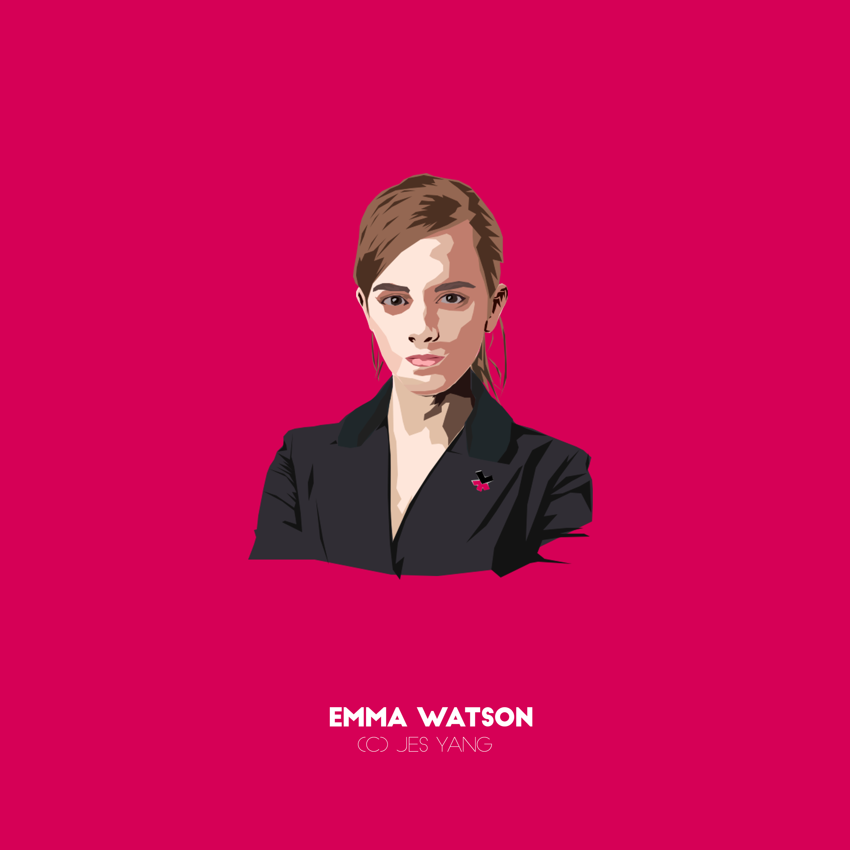 Emma Watson. Hermione Granger. Harry Potter Film Franchise, British actress. #HeForShe.  https://akosijesyang.wordpress.com/2015/02/09/emma-watsonvector/