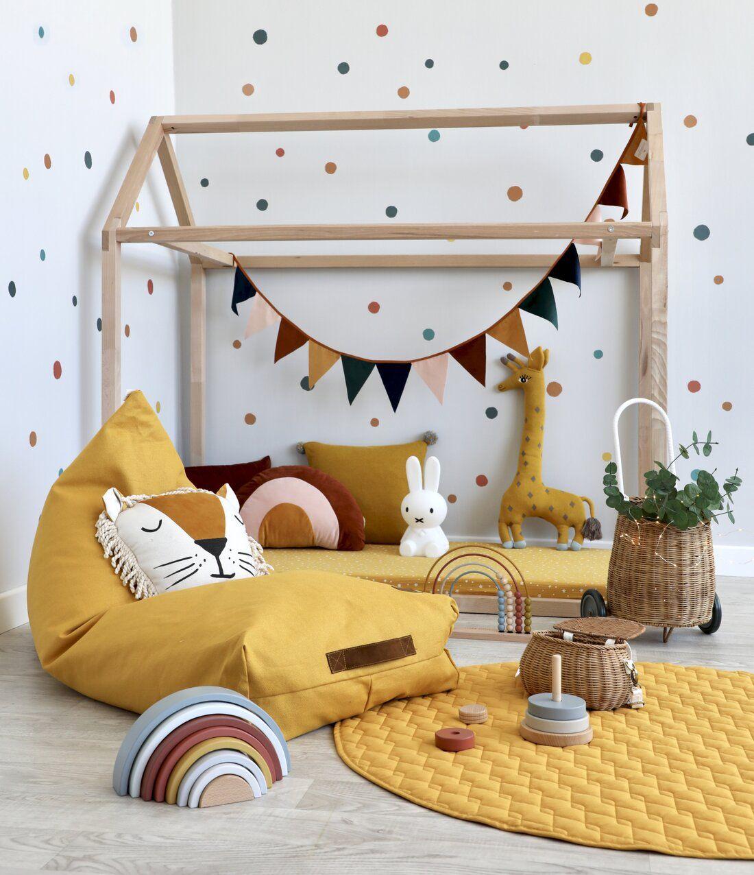Photo of Kinderzimmer mit Hausbett & Nobodinoz Textilien bei Fantasyroom online kaufen