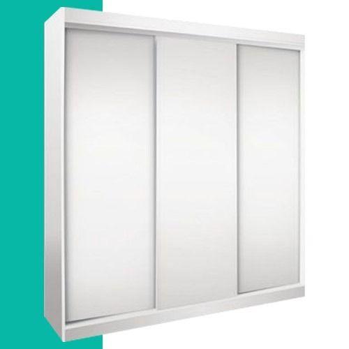 Increible ropero placard 3 puertas corredizas guias aluminio for Ideas de puertas corredizas