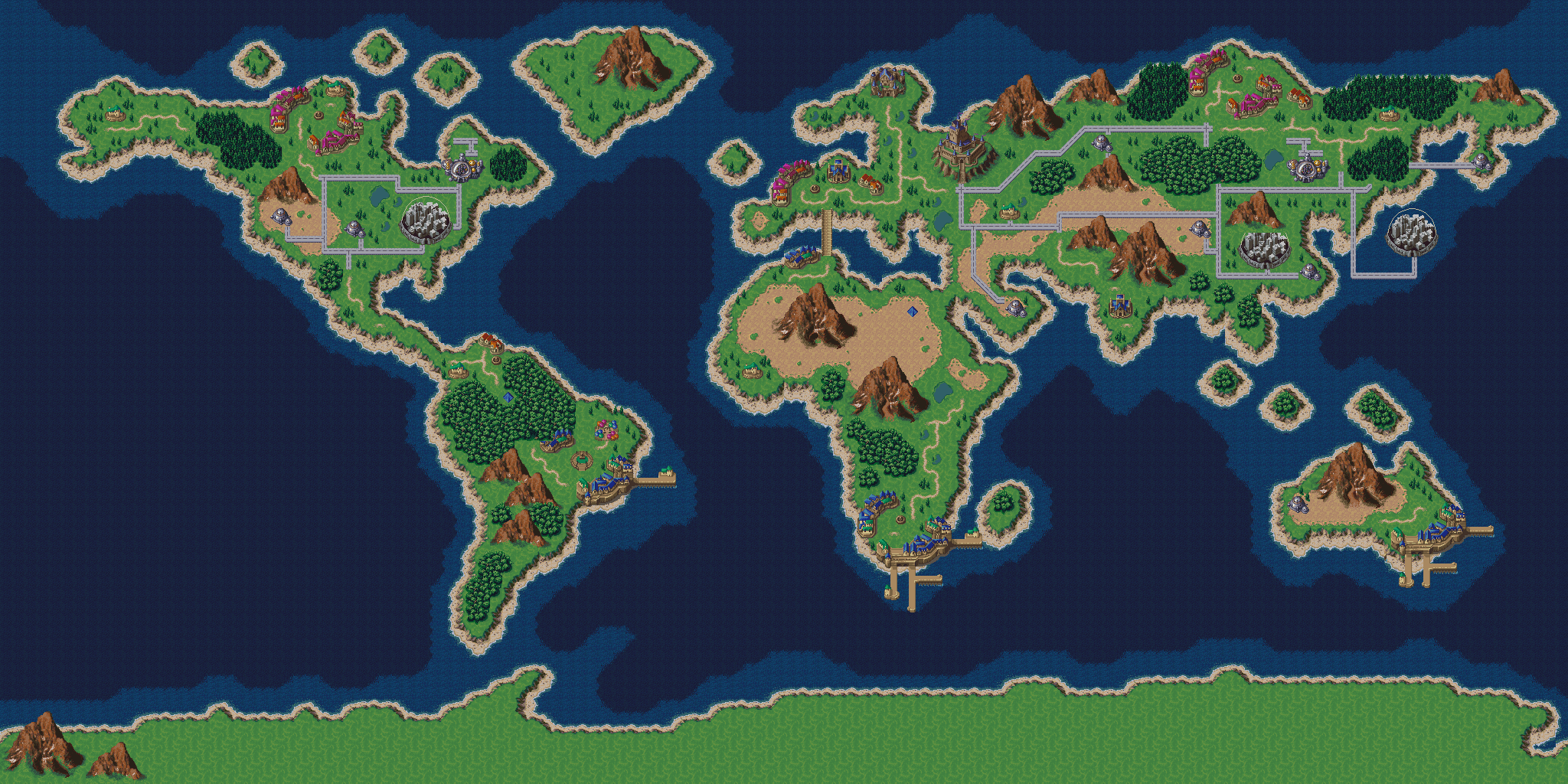 Chrono Trigger World Map Earth map in chrono trigger style by Dr Shellos (With images