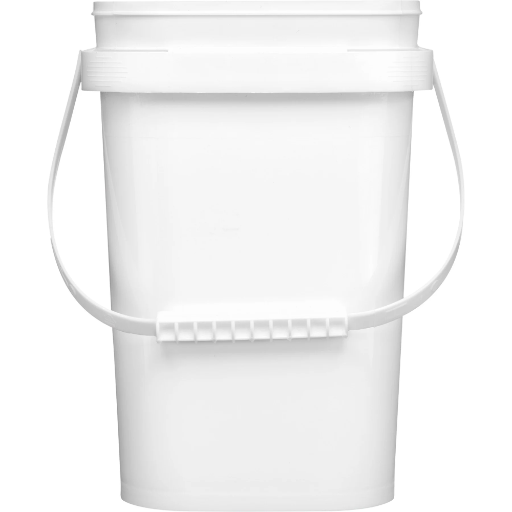 1 Gallon White Tall Ez Stor Pp Plastic Container W Handle In 2020 Plastic Containers Hdpe Plastic Polypropylene Plastic