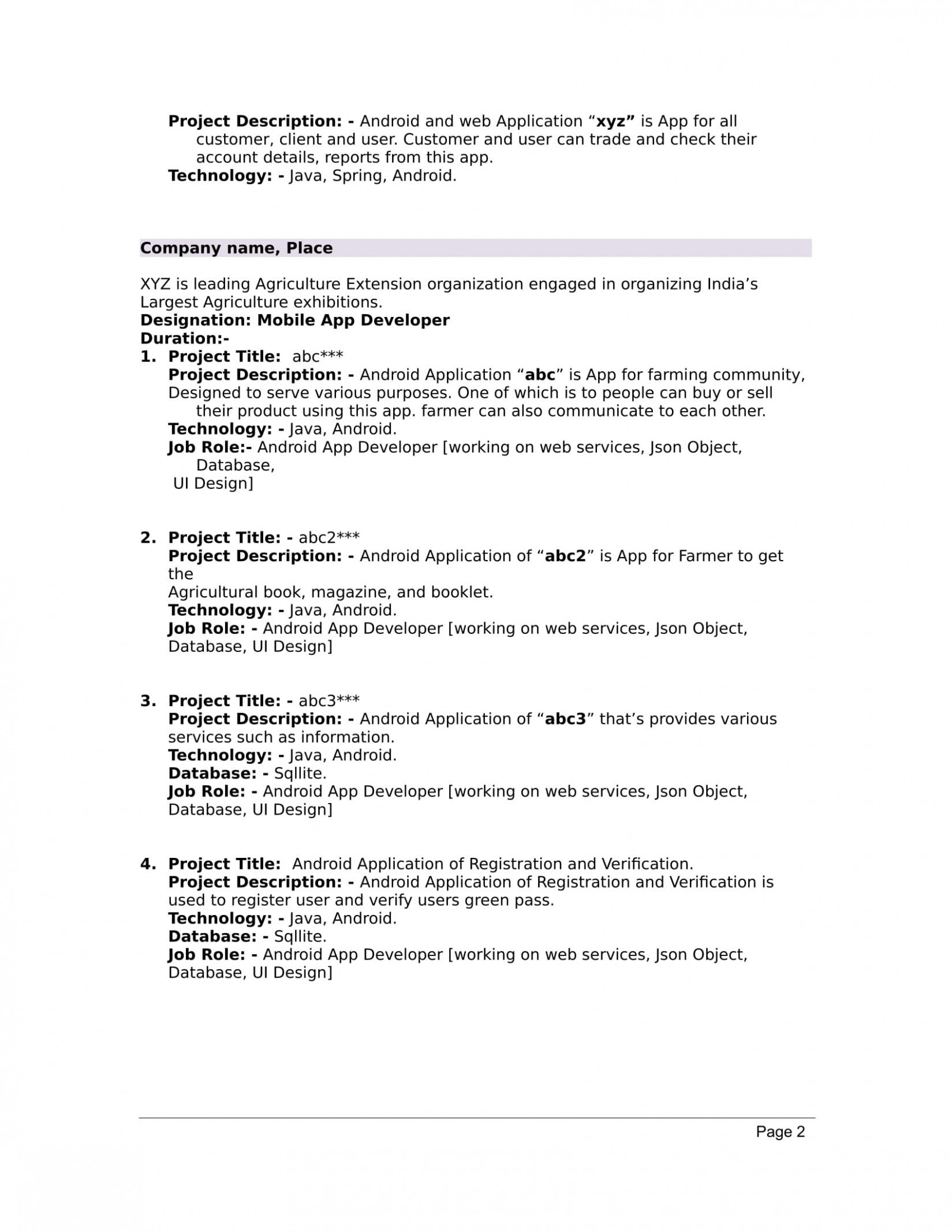 Create A Resume For Fresher