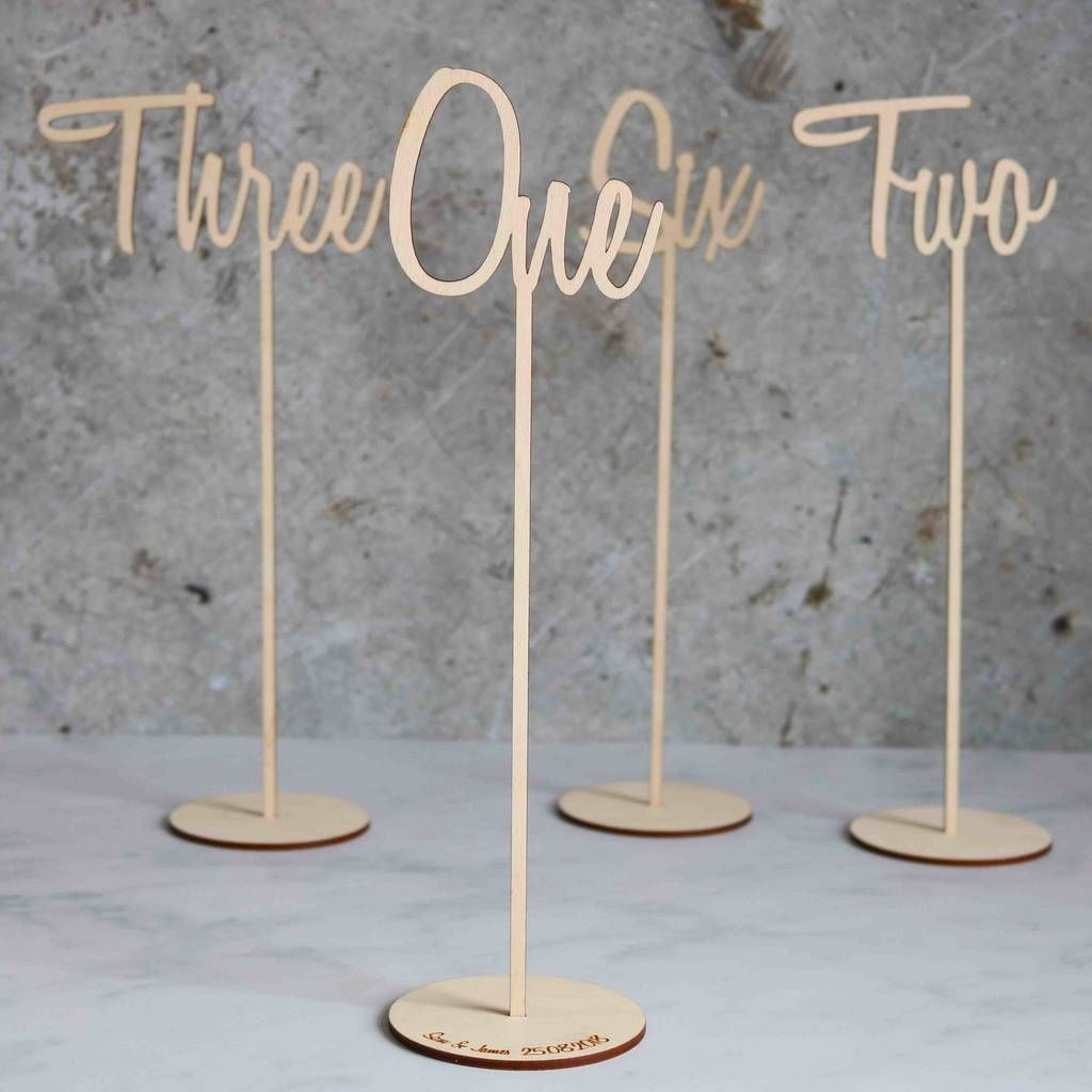 Vintage Romance Wedding Party Table Numbers  No/'s 1-12 Double Sided Freestanding