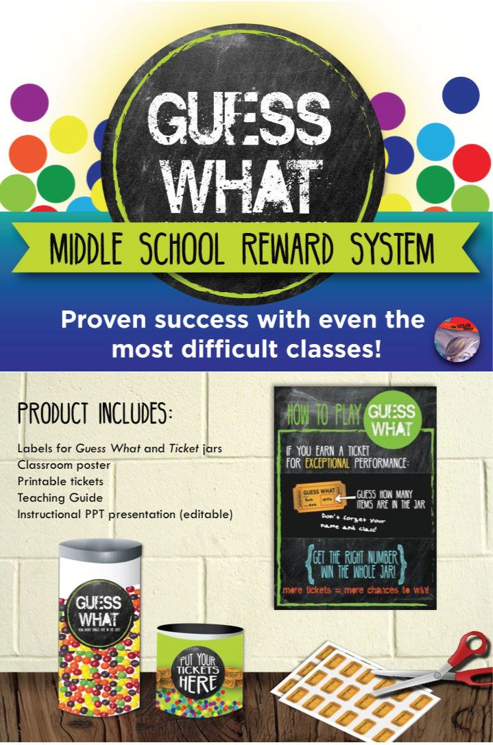 Classroom Reward Ideas For Middle School : Behavior management middle school reward system guess