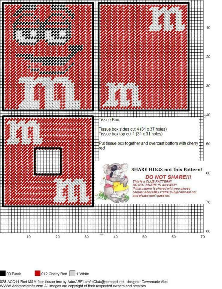 M&m tbc | Plastic Canvas | Pinterest | Häkeln