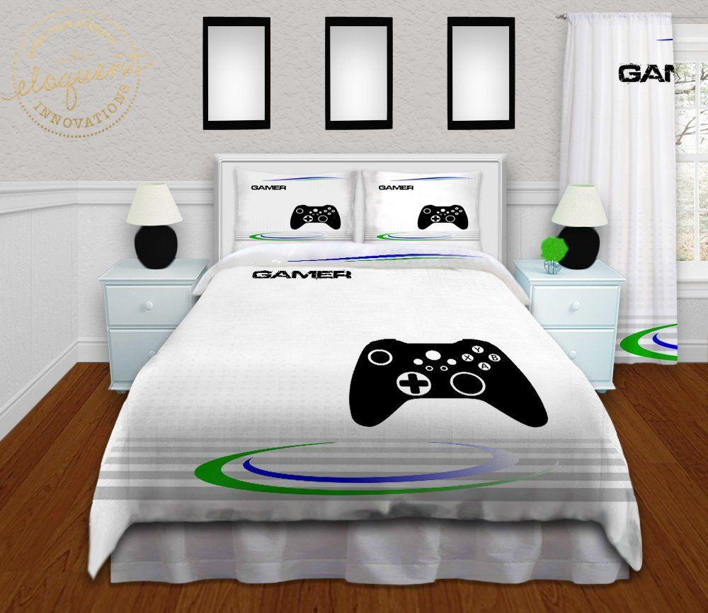 Video Game Bed Sets For Boys Gamer Comforter Gaming Themed Bedroom