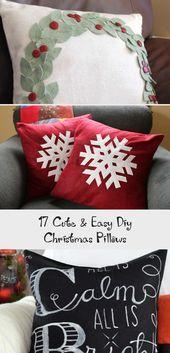 17 Cute & Easy Diy Christmas Pillows  Home Decor Diy#kitchengarden #gardenflowers #gardensbythebay #homedesign #bedroomdesign #interiordesigner #furnituredesign #designideas #designinspiration #designlovers #designersaree #designsponge #designersarees #designbuild #designersuits