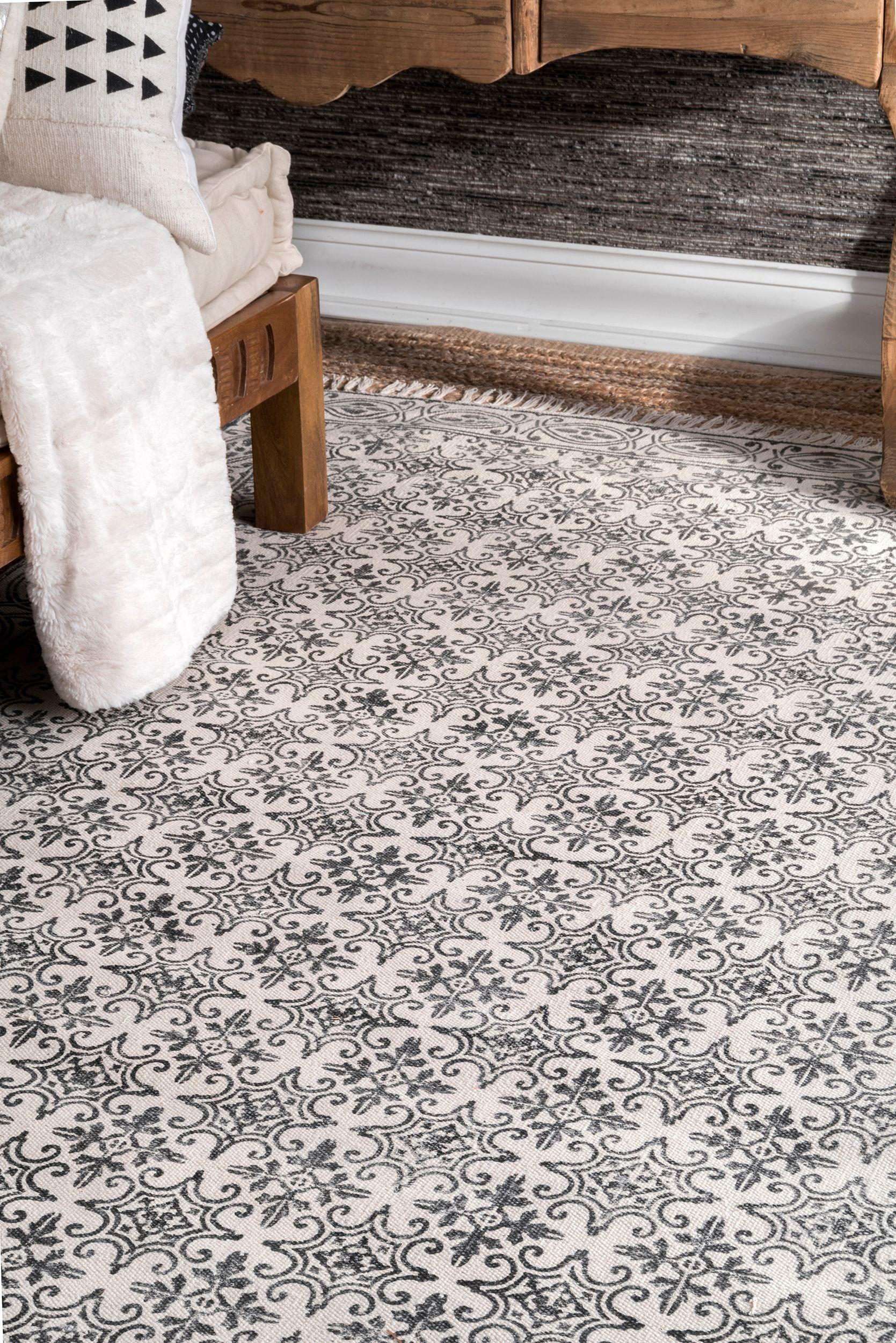 Chembra bordered trellis off white rug rugs white rug