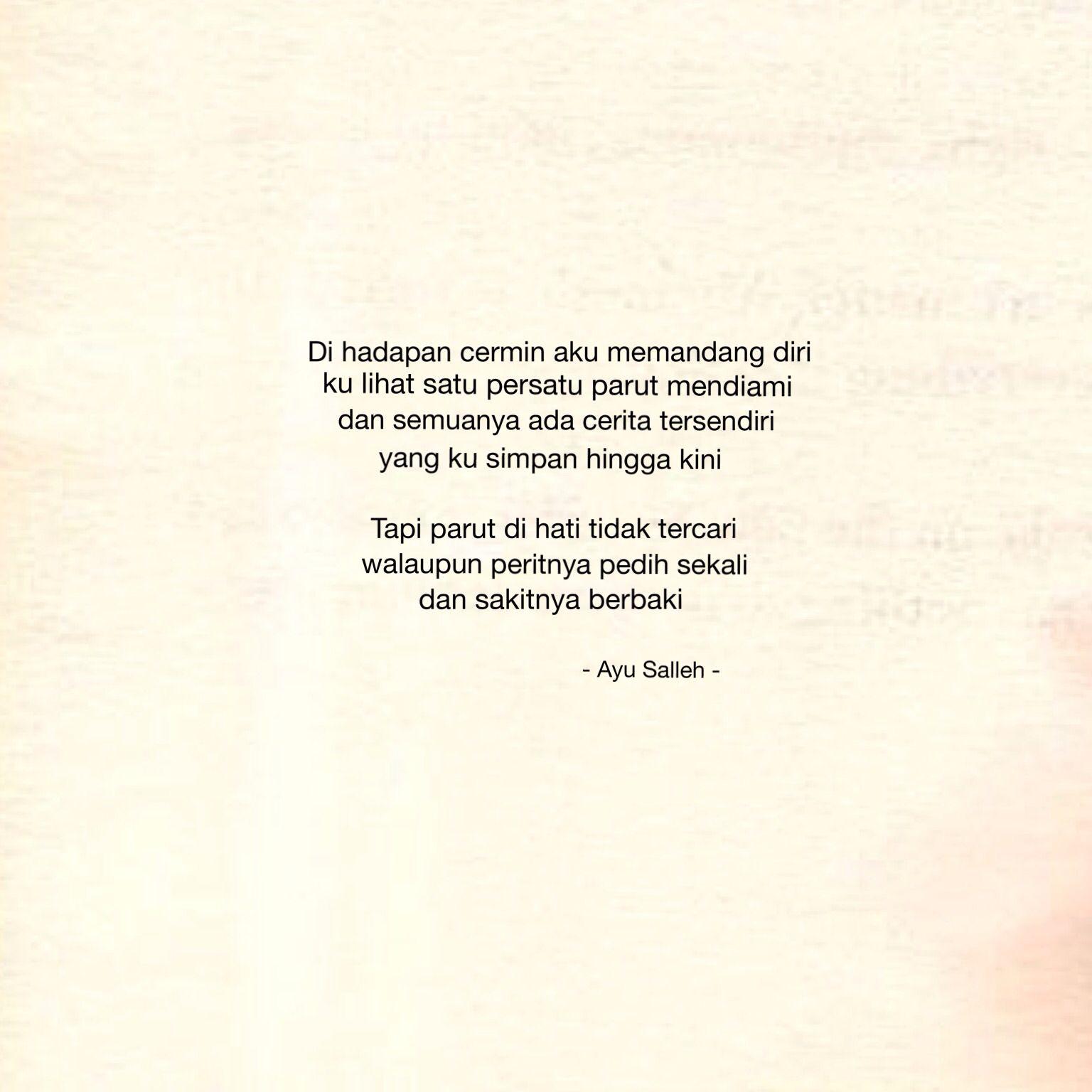 Ini Adalah Puisi Yang Saya Ringkaskan Dan Dipetik Dari Buku Sulung Puisi Penuh Boleh Didapati Dari Buku P E R H E N T I A N Copyr Kata Kata Motivasi Puisi