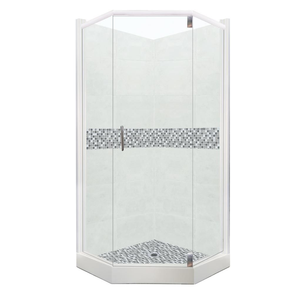 American Bath Factory Del Mar Grand Hinged 36 In X 36 In X 80 In