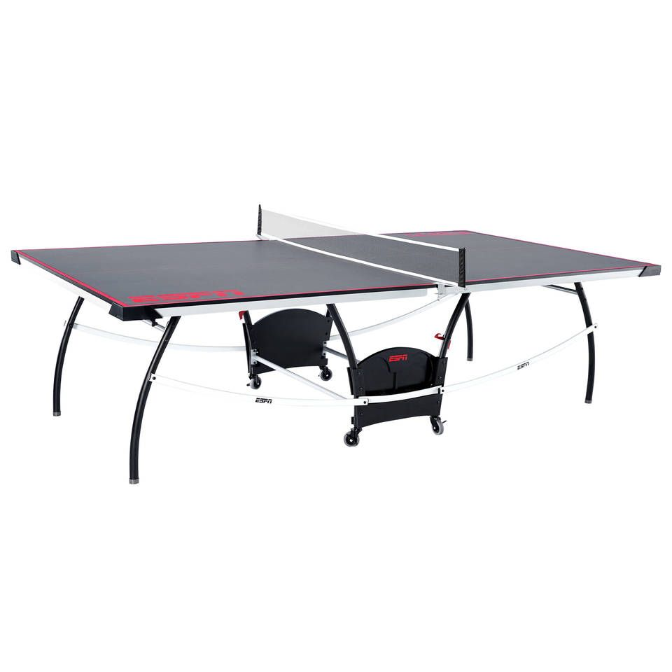 Espn Official Size 15mm 2 Piece Indoor Table Tennis Accessories Included Grey Red Walmart Com Table Tennis Outdoor Table Tennis Table Outdoor Folding Table