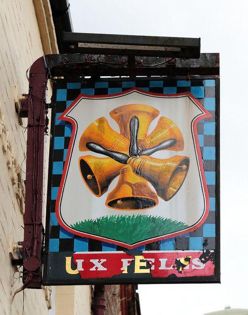 Six Bells pub sign Havant Hampshire UK | by davidseall