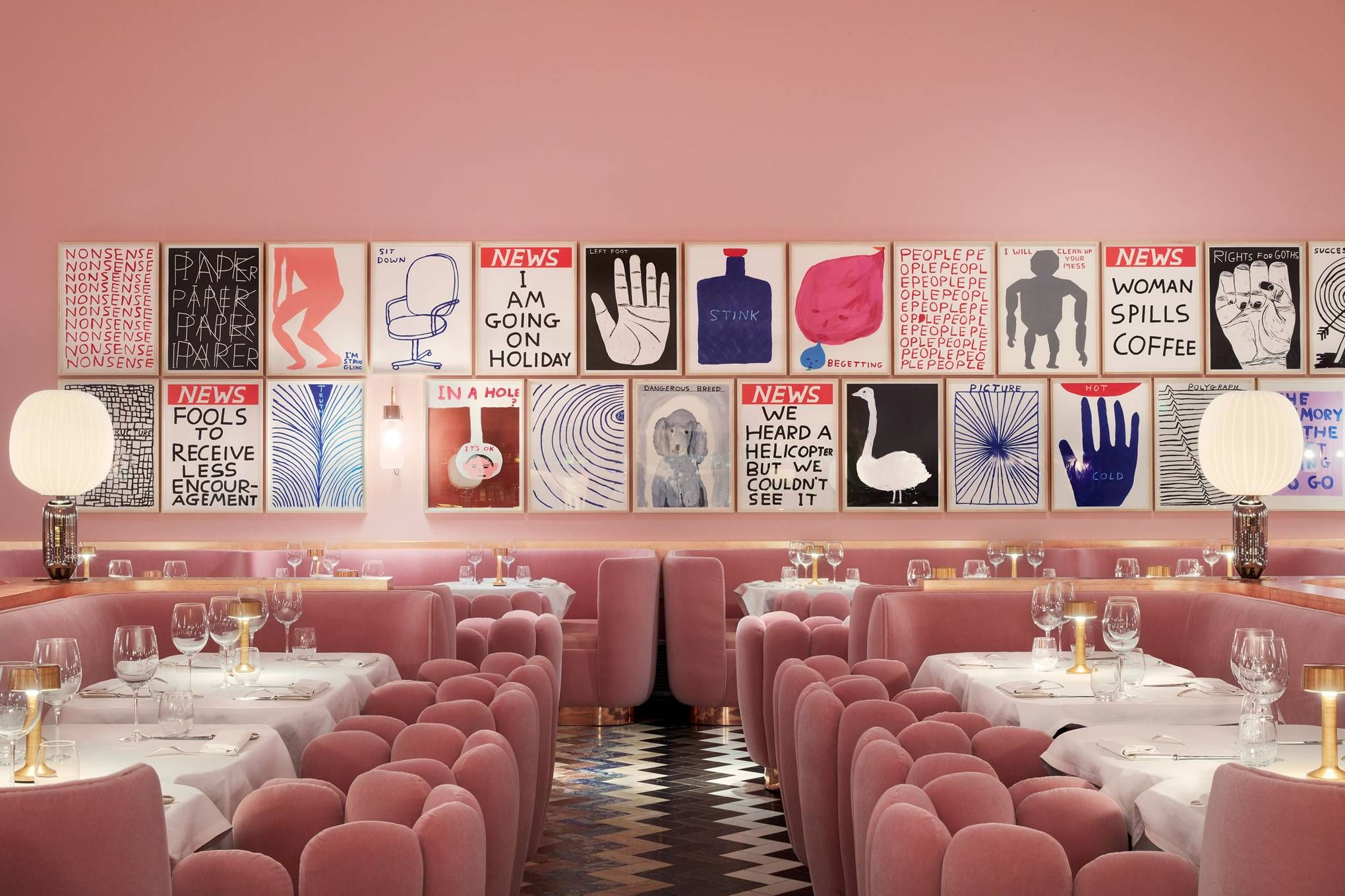 The Most Beautiful Restaurants In London Pink Restaurant Sketch