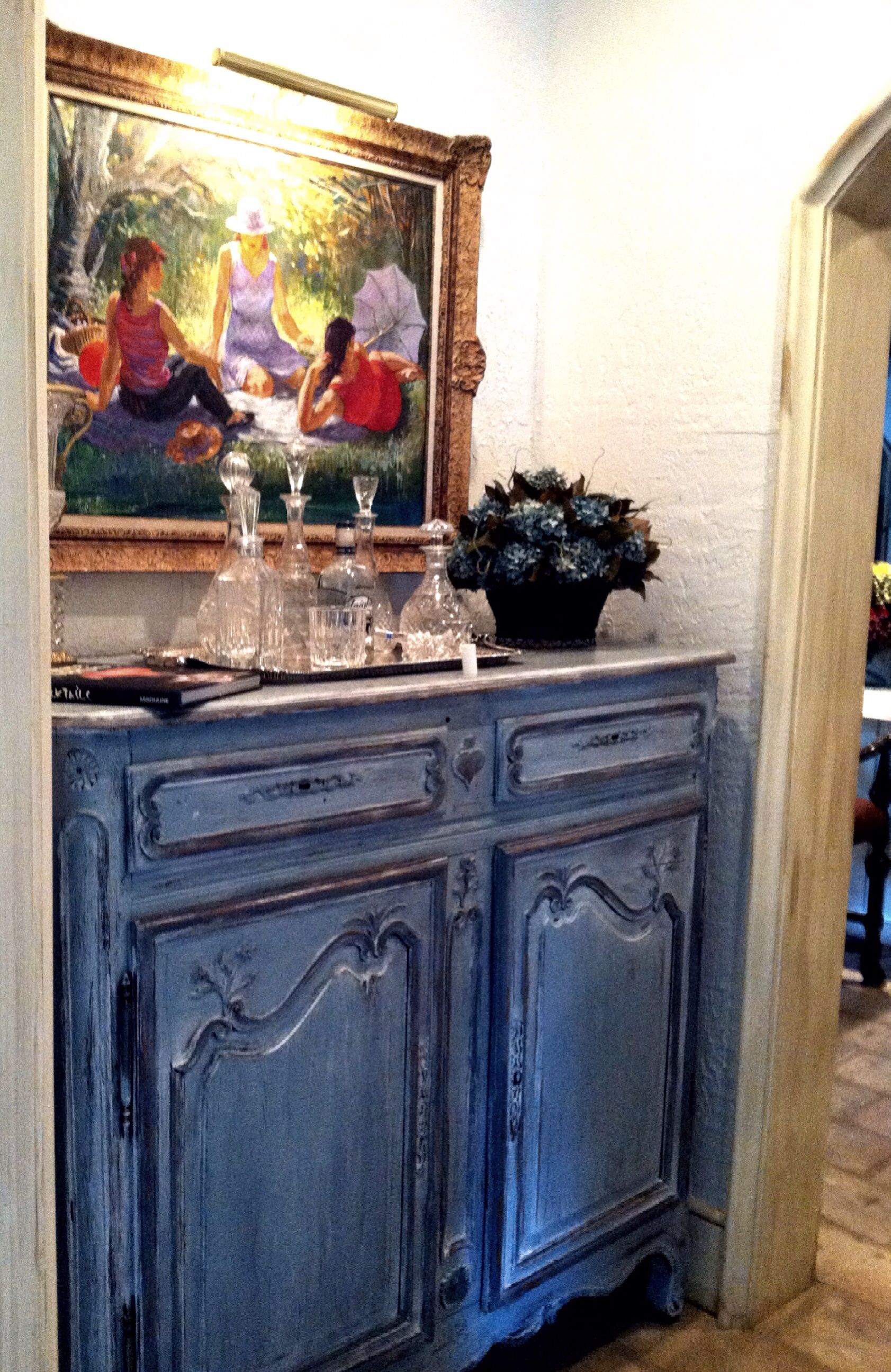 How Leo Used The Cabinet As A Bar In Country French Home He Designed Dowell Interiors
