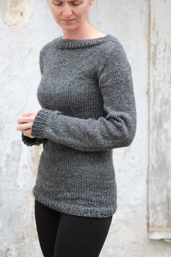 Knit Sweater Knitting Pattern Great Beginner Sweater Pattern