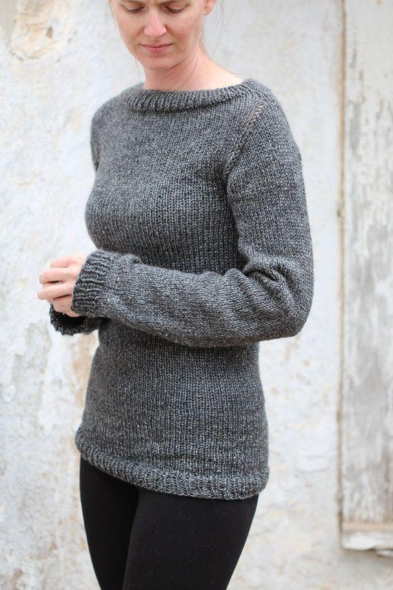 Knitting Pattern - Knit Sweater Knitting Pattern - Great beginner ...