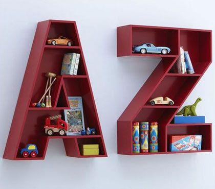 3D Letter Bookshelf