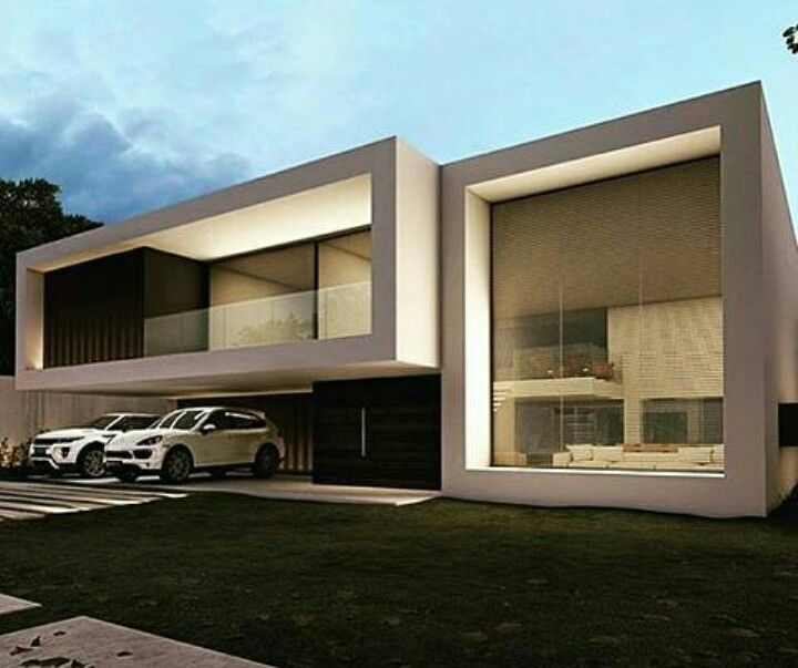 Arquitetura Integrando Pisos: Fachada Sobrado Condomínio Fechado
