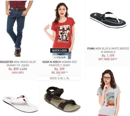 Myntra sale Upto 70% Off on Apparel Footwear Accessories and