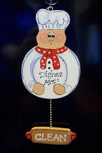 Fat Chef Dishwasher Sign Magnet Or Suction Cup Kitchen
