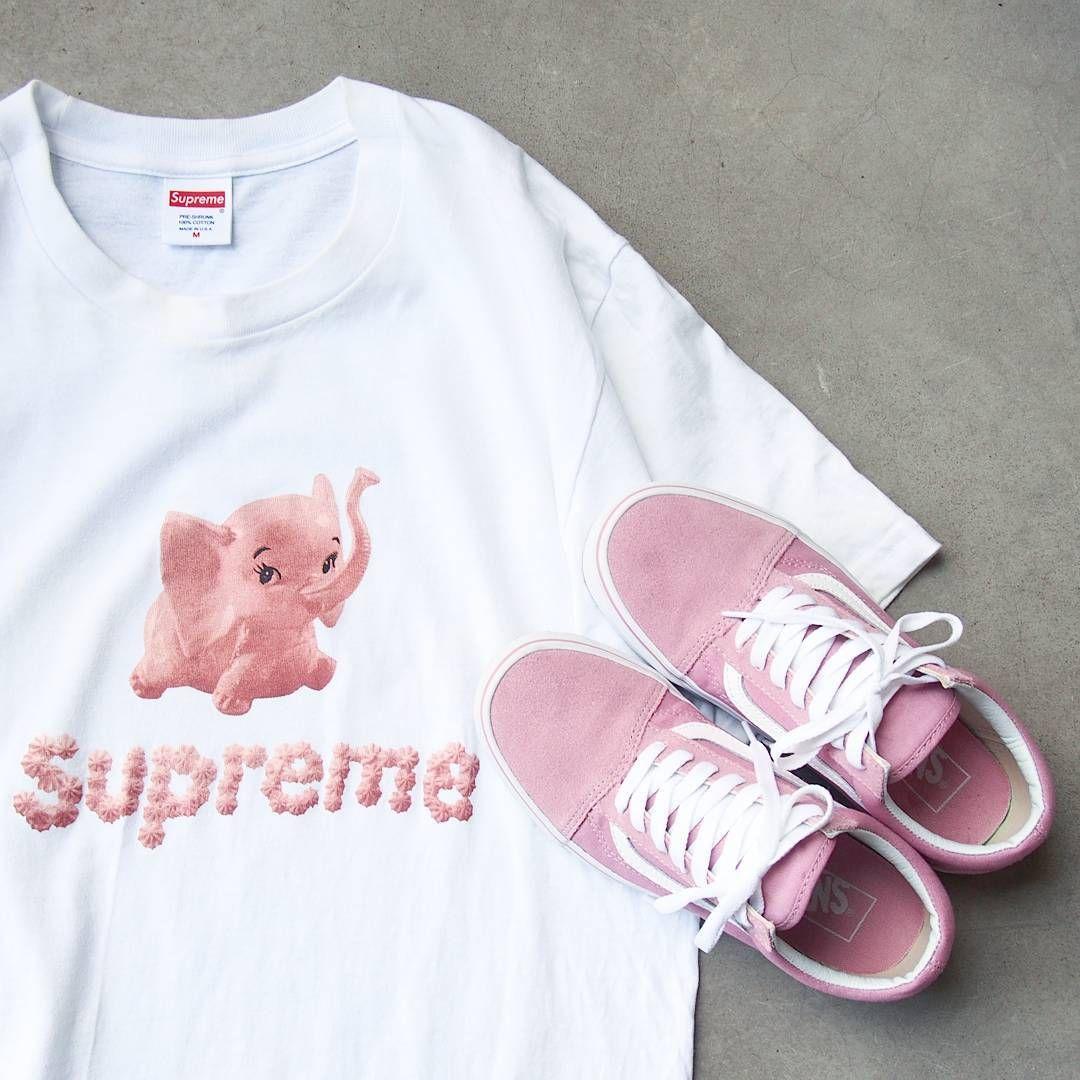 edec283114e67b SUPREME Elephant Tee x Pink Vans Old Skool