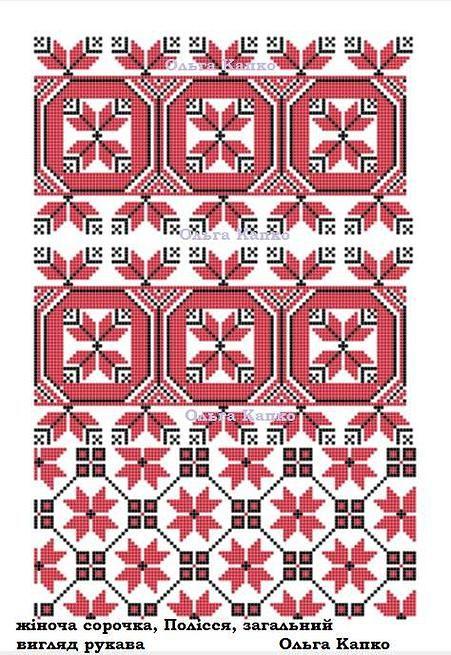 схеми вишивки автентичних українських сорочок Вишивка Хрестиком 1ab957756d961