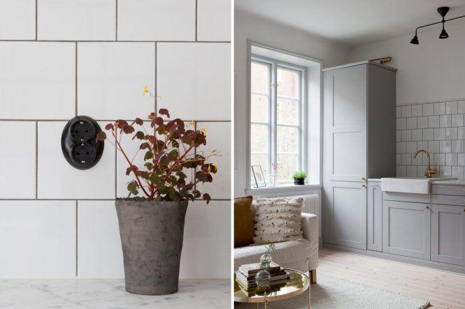 Estudio con detalles elegantes y modernos Estilo nórdico - decoracion de espacios pequeos