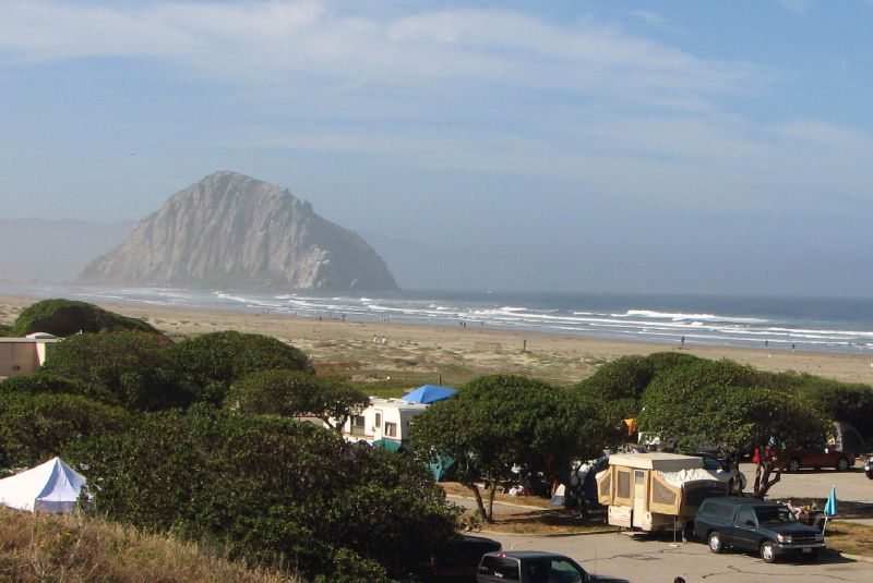 campsites on the ocean in California | Campground, camping right on the  beach just past