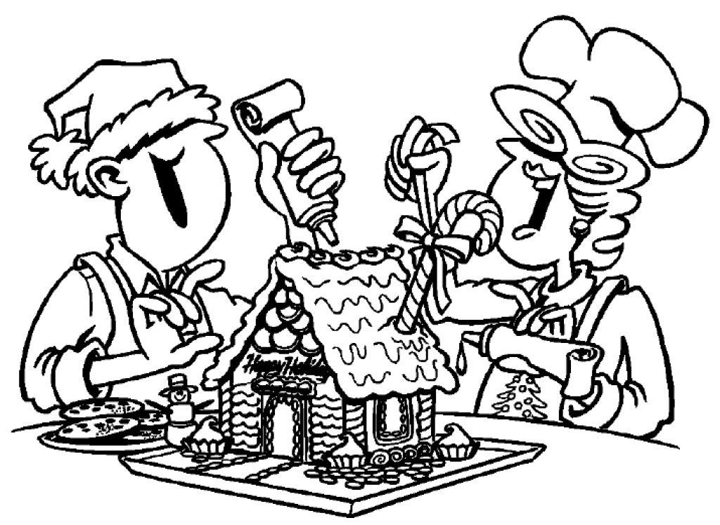 Gingerbread House Coloring Pages Gingerbread man