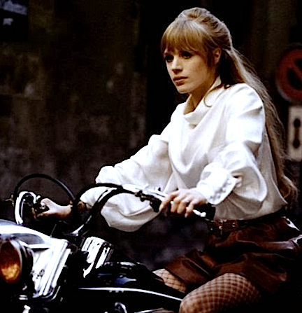 "Marianne Faithfull, ""The Girl on a Motorcycle,"" 1968"