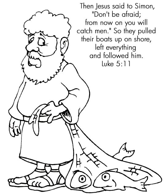 Fishers Of Men Coloring Page Bible Stories For Kids Toddler