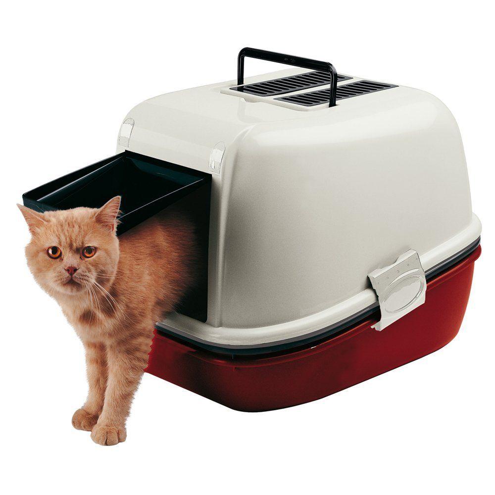Ferplast Magix Cat Toilette Home, Burgundy *** Want to