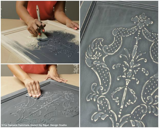 paint effects for furniture. how to stencil tutorial create a carved wood effect with stencils and icing paint effects for furniture