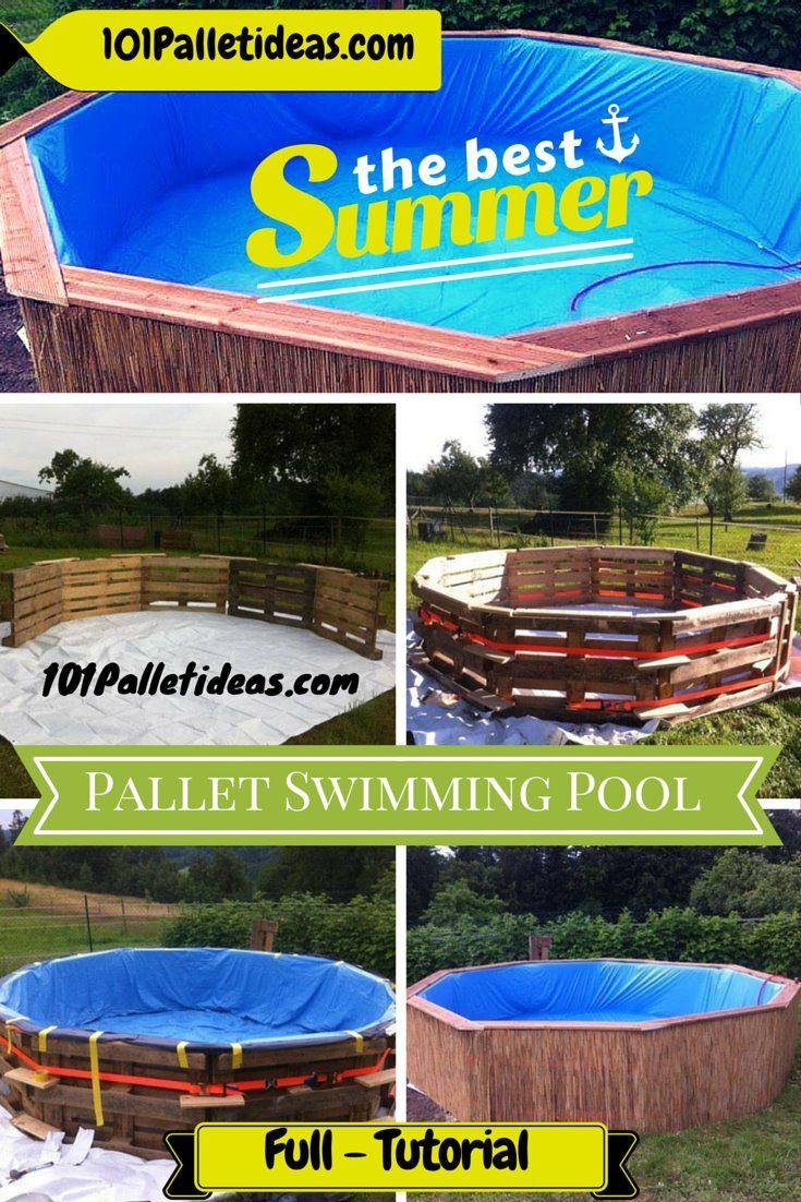 Diy Pallet Swimming Pool Tutorial 101 Pallet Ideas