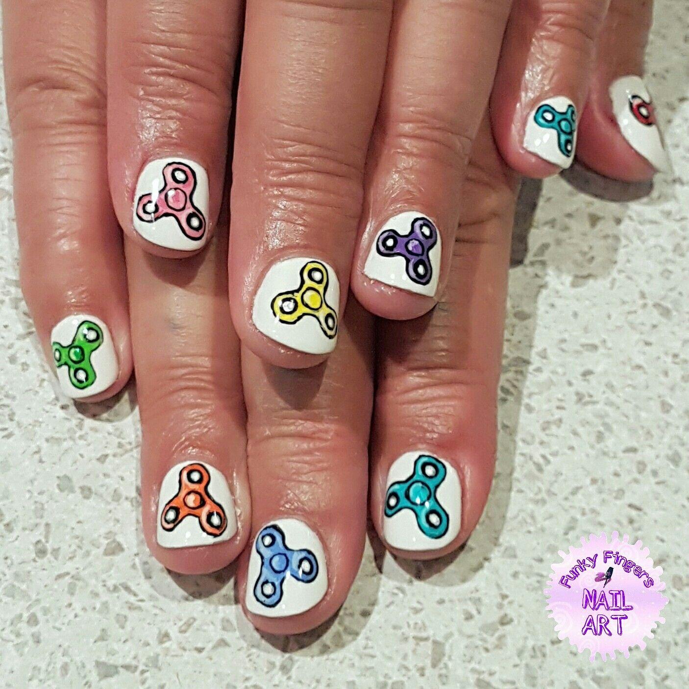 Fidget spinner nails   Nail nail   Pinterest   Fun nails and Nail nail