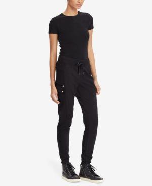 Lauren Ralph Lauren French Terry Cargo Pants - Black XL